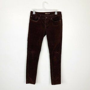 Prana Chocolate Brown Corduroy Skinny Pants